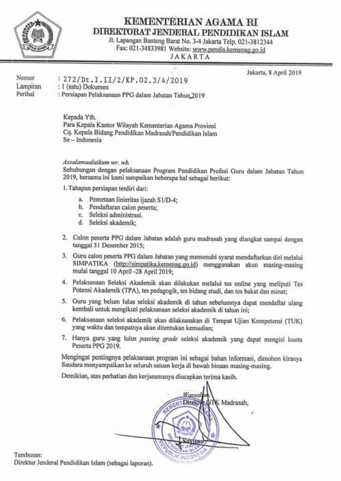 Persiapan Pelaksanaan PPG Dalam Jabatan Tahun 2019 MTsN 3 Tanjab Barat Selesai Dilaksanakan