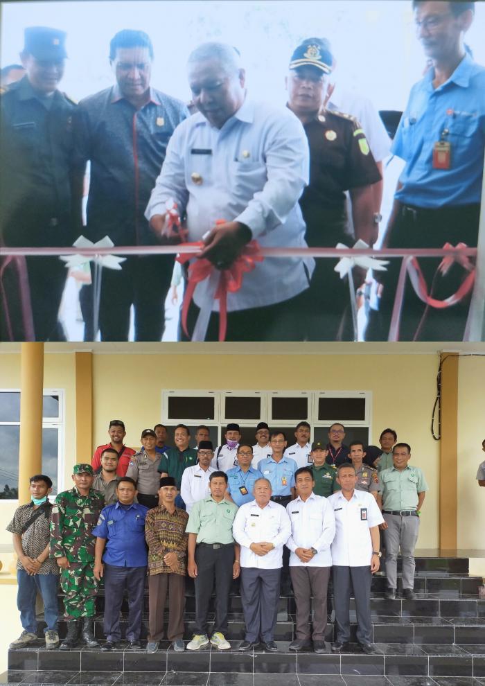 Bupati Tanjung Jabung Barat Resmikan Kantor Camat Pengabuan