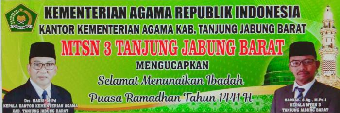 Selamat Menunaikan Ibadah Puasa Ramadhan Tahun 1441 H/2020 M