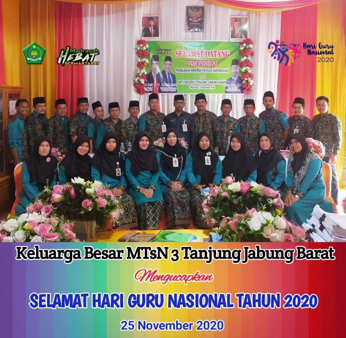 Selamat Hari Guru Nasional Tahun 2020
