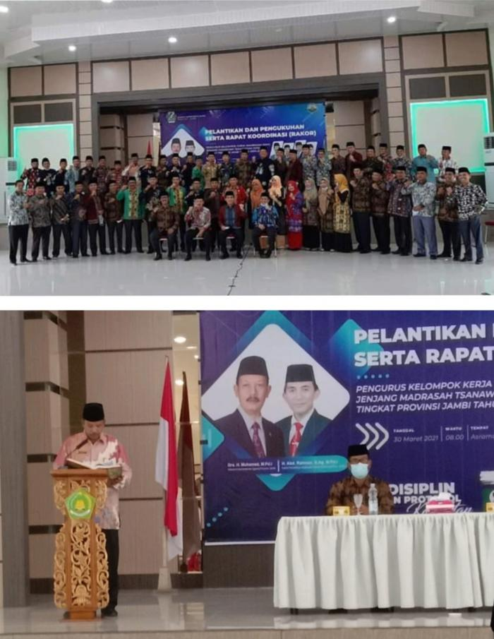 Pelantikan Pengurus KKM Jenjang MTs Tingkat Provinsi Jambi